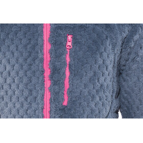 Meru Yakamia Waffle Teddy Fleece Jacket Kids Navy